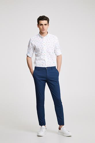 Twn Slim Fit Lacivert Düz Chino Pantolon - 8682060349279 | D'S Damat