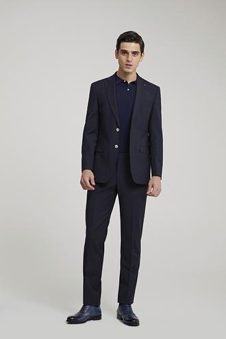 Ds Damat Slim Fit Slim Fit Lacivert Kareli Takım Elbise - 8682060412515 | D'S Damat