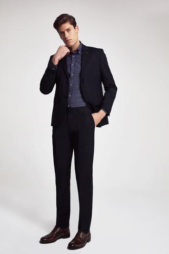 Ds Damat Slim Fit Slim Fit Siyah Düz Takım Elbise - 8682060660718 | D'S Damat