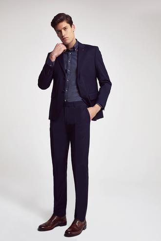 Ds Damat Slim Fit Slim Fit Lacivert Düz Takım Elbıse - 8682060660770 | D'S Damat