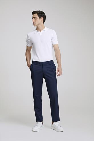 Ds Damat Slim Fit Lacivert Düz Kumaş Pantolon - 8682060078650 | D'S Damat