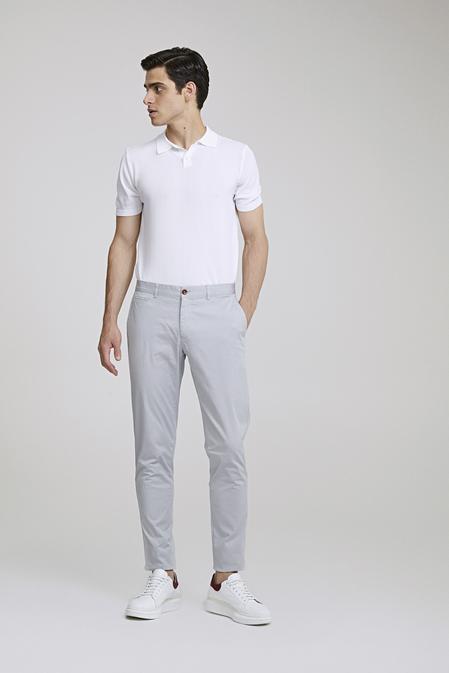 Ds Damat Slim Fit Taş Baskılı Chino Pantolon - 8682445013160 | D'S Damat