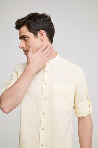 Twn Slim Fit Sarı Çizgili Gömlek - 8682445389098   D'S Damat