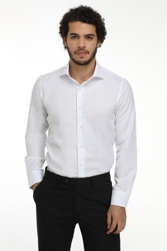 Ds Damat Slim Fit Beyaz Gömlek - 8681779951698 | D'S Damat