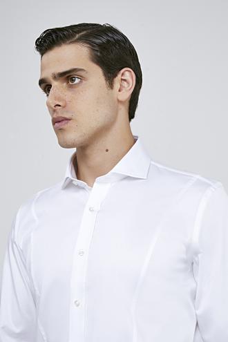 Ds Damat Slim Fit Beyaz Düz Gömlek - 8682445068825 | D'S Damat