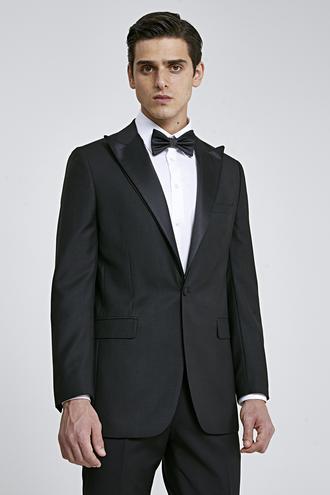 Ds Damat Slim Fit Siyah Düz Smokin Takım Elbise - 8682445244533 | D'S Damat