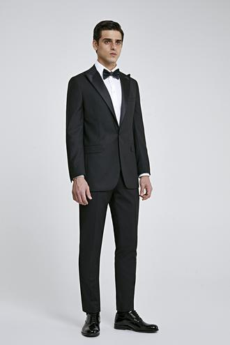 Ds Damat Slim Fit Siyah Düz Smokin Takım Elbise - 8682060622693 | D'S Damat