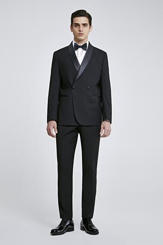 Twn Slim Fit Siyah Düz Smokin Takım Elbise - 8682060637536 | D'S Damat