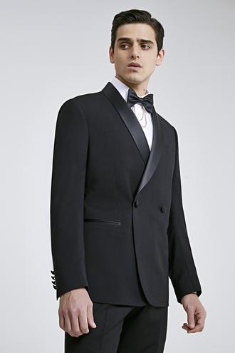 Twn Slim Fit Siyah Düz Smokin Takım Elbise - 8682060921550 | D'S Damat