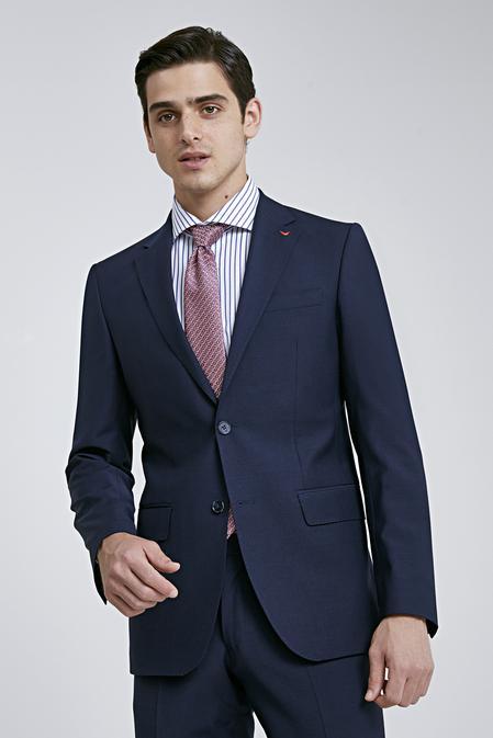 Ds Damat Slim Fit Lacivert Düz Travel Takım Elbise - 8681779836919 | D'S Damat