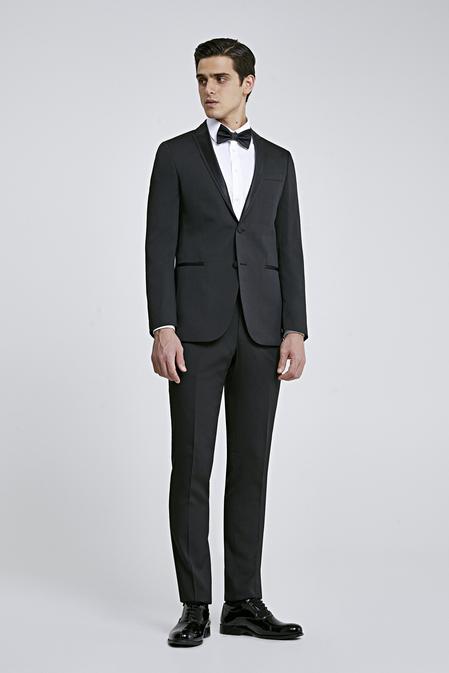 Ds Damat Slim Fit Slim Fit Siyah Armürlü Takim Elbise - 8681779975588 | D'S Damat