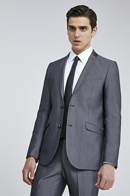 Twn Slim Fit Siyah Düz Takım Elbise - 8682060791795 | D'S Damat