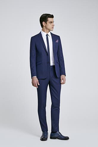 Twn Slim Fit Slim Fit Lacivert Düz Takım Elbise - 8682060791863 | D'S Damat