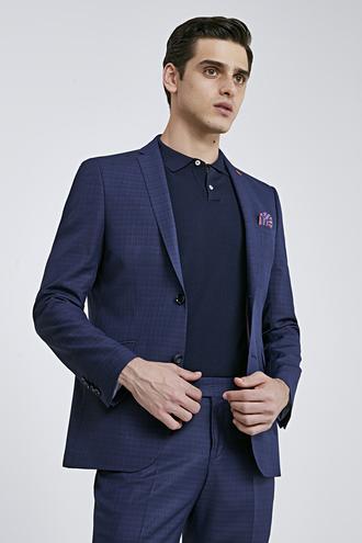 Twn Slim Fit Slim Fit Lacivert Düz Takım Elbise - 8682060793164 | D'S Damat
