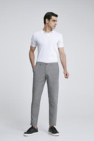 Twn Slim Fit Siyah Armürlü Jogger Chino Pantolon - 8682060158154 | D'S Damat
