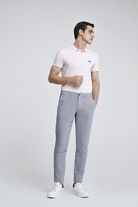 Twn Slim Fit Mavi Armürlü Jogger Chino Pantolon - 8682060158246 | D'S Damat