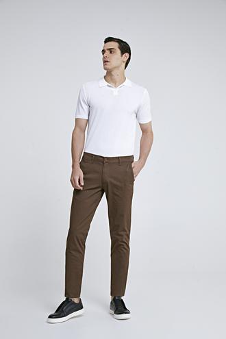 Ds Damat Slim Fit Kahve Baskılı Chino Pantolon - 8682060158666 | D'S Damat