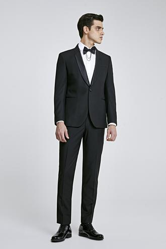 Twn Slim Fit Siyah Düz Smokin Takım Elbise - 8681779829331 | D'S Damat