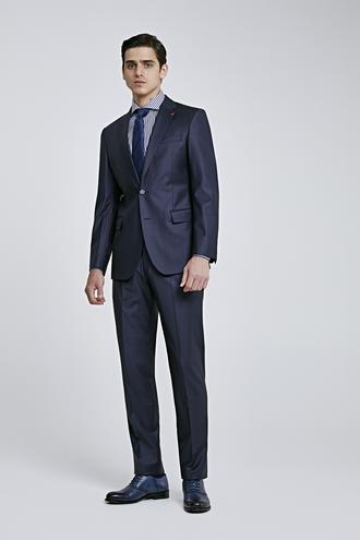 Ds Damat Slim Fit Lacivert Düz Takım Elbise - 8682445049367 | D'S Damat