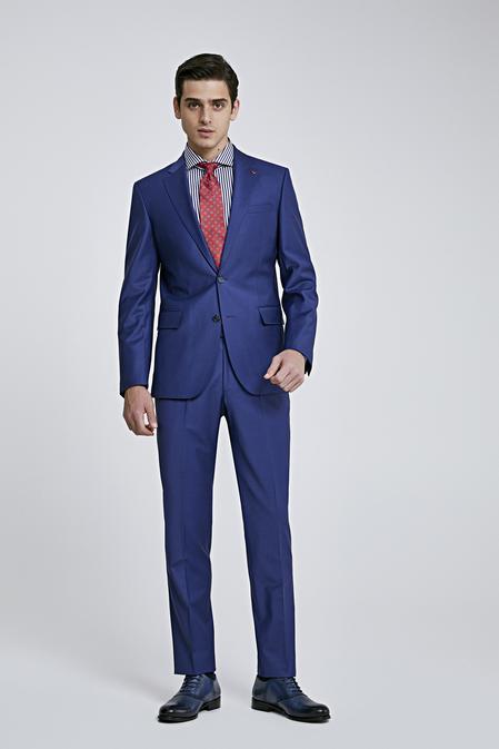 Ds Damat Slim Fit Saks Mavi Düz Takım Elbise - 8682445049480 | D'S Damat
