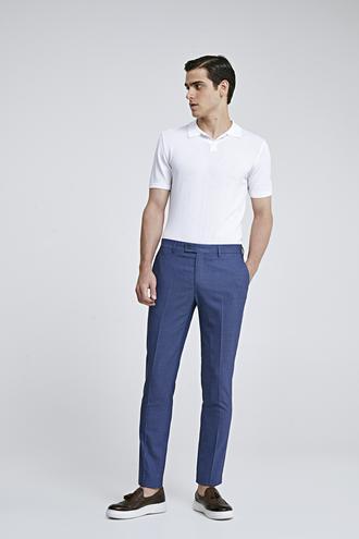 Twn Slim Fit İndigo Armürlü Pantolon - 8682060076229 | D'S Damat