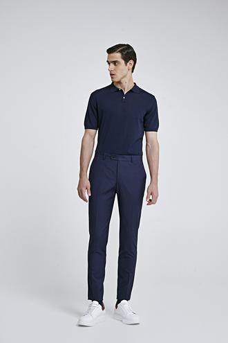Twn Slim Fit Lacivert Düz Pantolon - 8682060076489 | D'S Damat