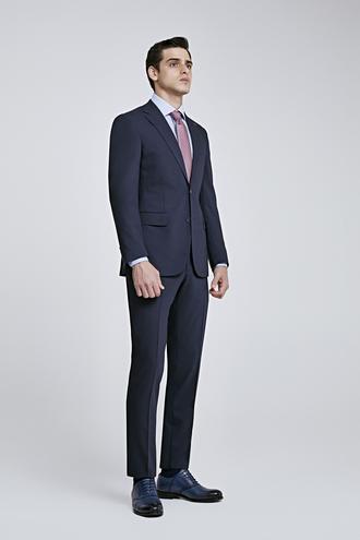 Ds Damat Slim Fit Slim Fit Lacivert Düz Takım Elbise - 8681779160168 | D'S Damat