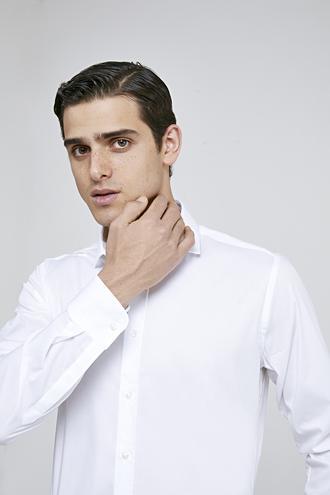 Twn Slim Fit Beyaz Düz Gömlek - 8681779989479 | D'S Damat