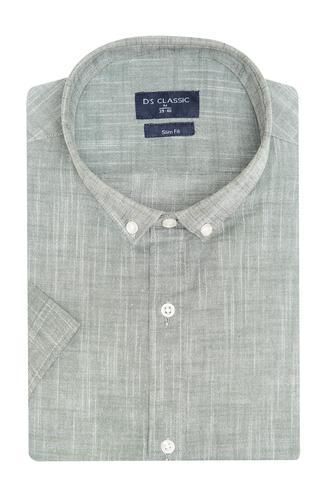 Ds Damat Slim Fit Beyaz Armürlü Gömlek - 8682060805553 | D'S Damat