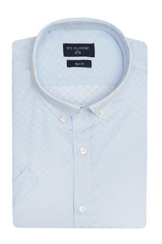 Ds Damat Slim Fit Beyaz Armürlü Gömlek - 8682060805614 | D'S Damat