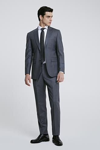 Ds Damat Regular Fit Gri Düz Takım Elbise - 8682445047936 | D'S Damat
