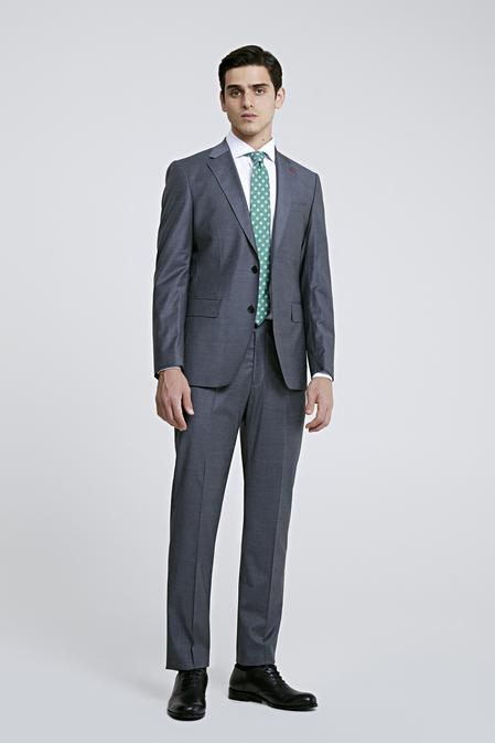 Ds Damat Slim Fit Gri Düz Takım Elbise - 8682445049909 | D'S Damat