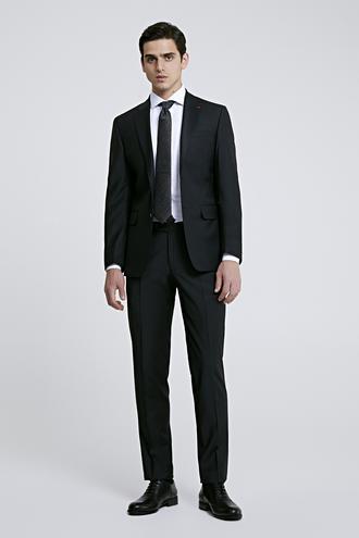 Ds Damat Slim Fit Slim Fit Siyah Düz Takim Elbise - 8681779984450 | D'S Damat