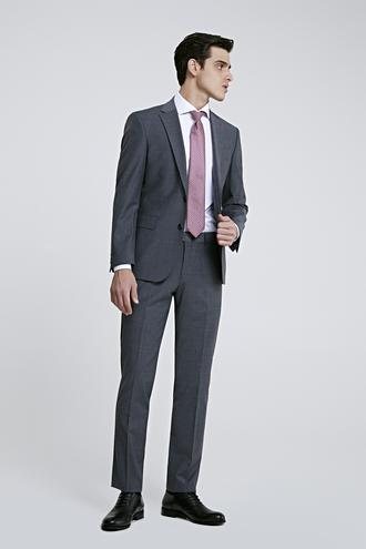 Ds Damat Slim Fit Slim Fit Gri Düz Takim Elbise - 8681779984399 | D'S Damat