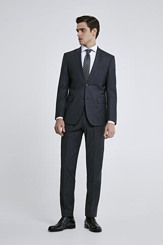 Ds Damat Slim Fit Slim Fit Antrasit Düz Takım Elbise - 8681779836049 | D'S Damat