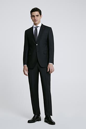 Ds Damat Regular Fit Slim Fit Siyah Düz Takım Elbise - 8682060153043 | D'S Damat
