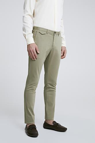 Twn Slim Fit Yeşil Chino Pantolon - 8682060783219 | D'S Damat
