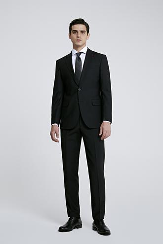 Ds Damat Slim Fit Siyah Düz Takım Elbise - 8682445048940 | D'S Damat