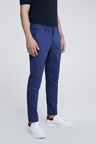 Ds Damat Slim Fit Lacivert Baskılı Chino Pantolon - 8681779900009 | D'S Damat