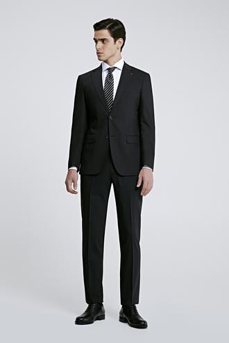 Ds Damat Slim Fit Slim Fit Siyah Düz Takım Elbise - 8681779160069 | D'S Damat