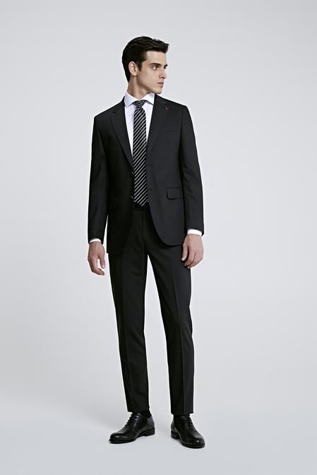 Ds Damat Regular Fit Slim Fit Siyah Düz Takım Elbise - 8681779159780 | D'S Damat