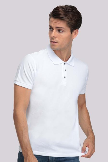 Ds Damat Regular Fit Beyaz T-shirt - 8681779765776 | D'S Damat