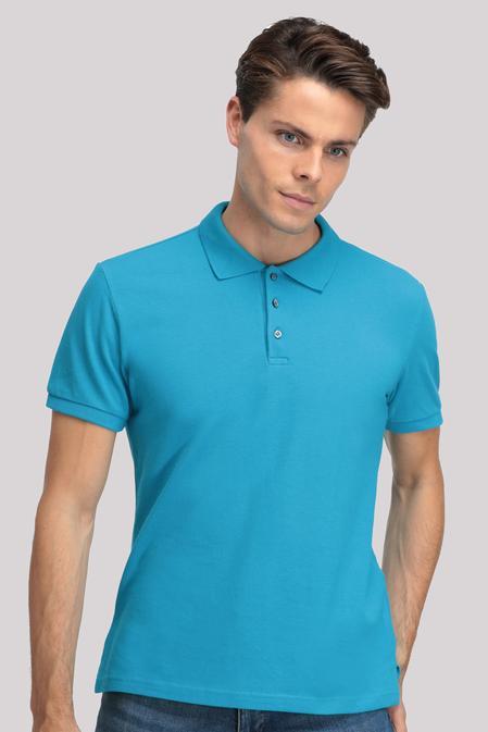 Ds Damat Regular Fit Turkuaz T-shirt - 8681779765950 | D'S Damat