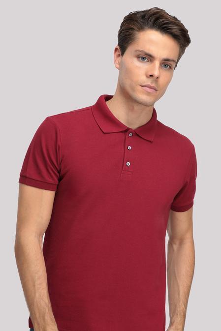 Ds Damat Regular Fit Bordo T-shirt - 8681779765806 | D'S Damat
