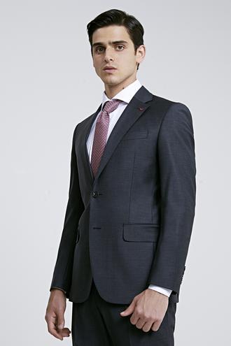 Ds Damat Slim Fit Slim Fit Antrasit Düz Takım Elbise - 8681779416548 | D'S Damat