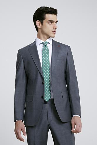 Ds Damat Slim Fit Slim Fit Gri Düz Takım Elbise - 8681779416333   D'S Damat