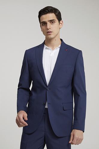 Ds Damat Slim Fit Slim Fit Lacivert Ekoseli Takım Elbise - 8681779702061 | D'S Damat