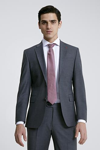 Ds Damat Slim Fit Slim Fit Gri Düz Takım Elbise - 8681779835813 | D'S Damat