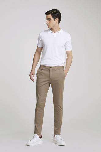 Twn Slim Fit Bej Armürlü Chino Pantolon - 8682060105684 | D'S Damat