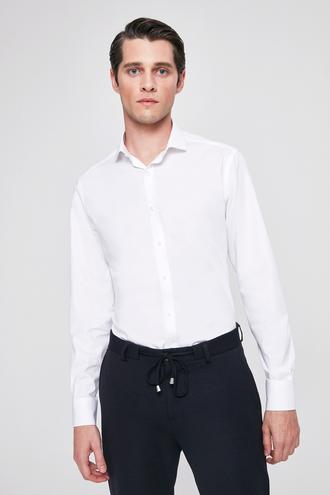 Twn Slim Fit Beyaz Armürlü Gömlek - 8682060283436 | D'S Damat